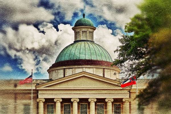 Photograph - Old Mississippi Capitol Building by Jim Albritton