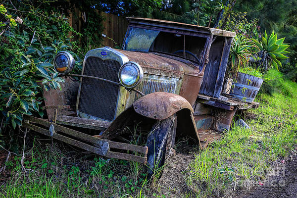 Wall Art - Photograph - Old Model T Ford In The Jungle Maui Hawaii by Edward Fielding
