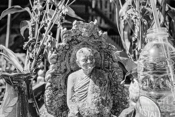 Wall Art - Photograph - Old Monk Statue 2 by Dean Harte