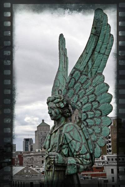 Photograph - Old Montreal Angel Filmstrip by Alice Gipson