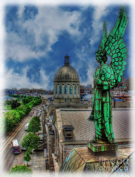 Wall Art - Photograph - Old Montreal Angel II by Lee Dos Santos