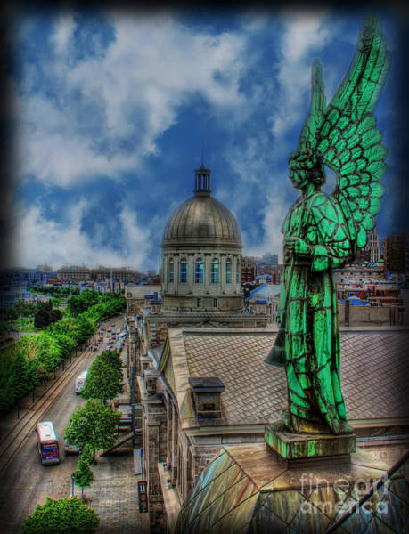 Wall Art - Photograph - Old Montreal Angel by Lee Dos Santos