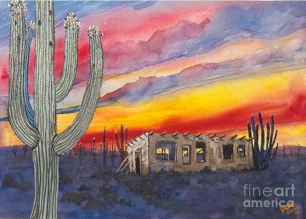 Wall Art - Painting - Old Motel by Don Hand