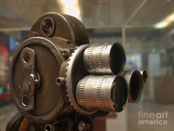 Manual Focus Wall Art - Photograph - Old Movie Camera by Yali Shi