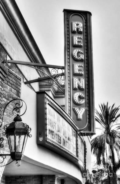 Photograph - Old Movie Theater 2 Bw by Mel Steinhauer
