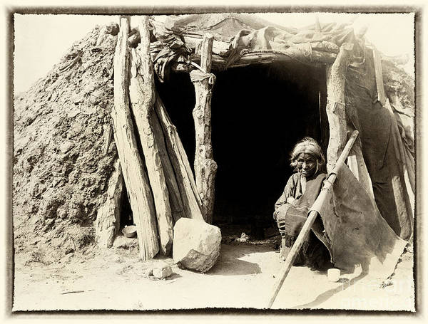 Photograph - Old Navajo At His Hogan by Paul W Faust -  Impressions of Light