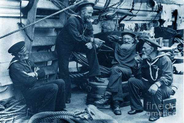 Photograph - Old Navy Aboard The U S S Mohican In 1888 by California Views Archives Mr Pat Hathaway Archives