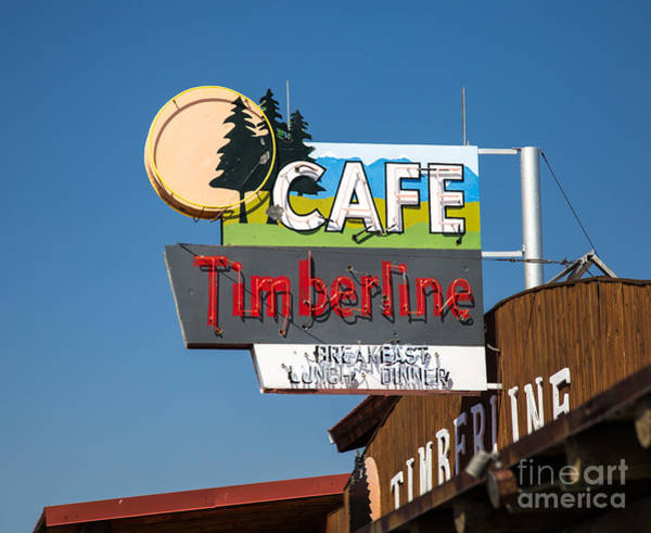 Vintage Neon Sign Photograph - Old Neon Sign In West Yellowstone by Edward Fielding