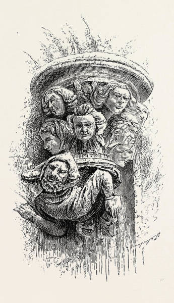 Old Style Drawing - Old Norse Boss, The Octagon by Norwegian School