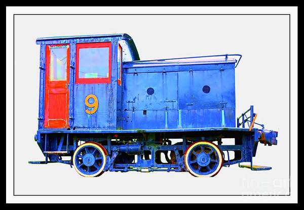 Photograph - Old Number 9 - Small Locomotive by Edward Fielding