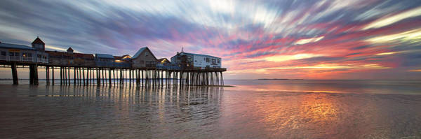Orchard Beach Photograph - Old Orchard Beach Panorama by Eric Gendron