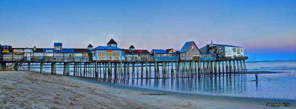 Orchard Digital Art - Old Orchard Beach Pier Panorama by Murray Dellow