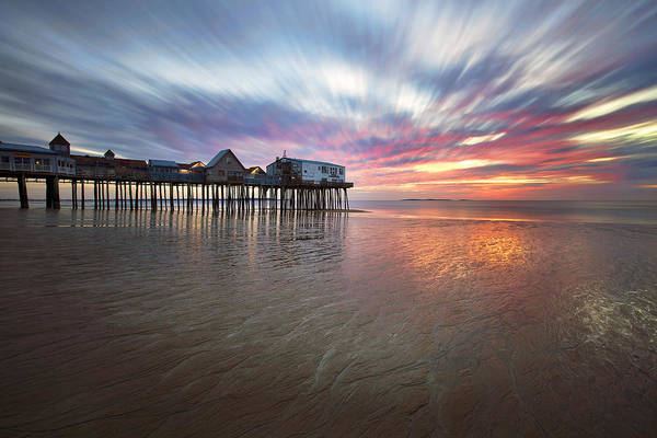 Orchard Beach Photograph - Old Orchard Daybreak by Eric Gendron