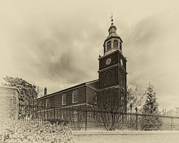 Photograph - Old Otterbein Church Olde Tyme Photo by Bill Swartwout Photography