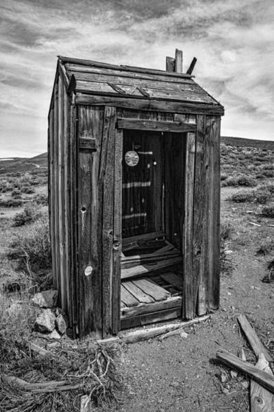 Bodie Ghost Town Wall Art - Photograph - Old Outhouse by Garry Gay