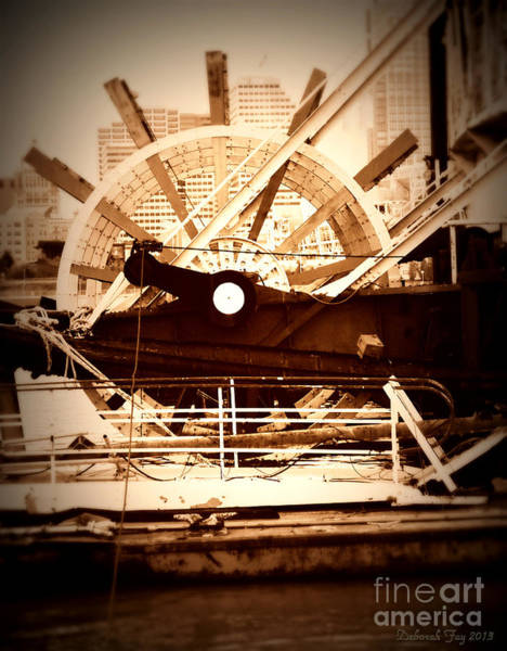 Daguerrotype Photograph - Old Paddle Wheel by Deborah Fay