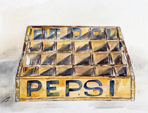 Soda Pop Painting - Old Pepsi Crate by Sandie Keyser