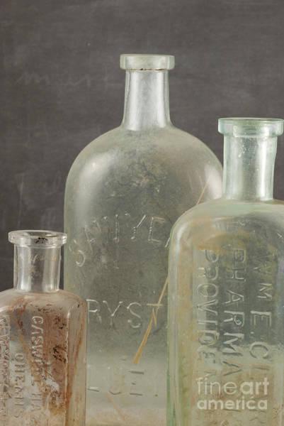 Photograph - Old Pharmacy Bottle by Juli Scalzi