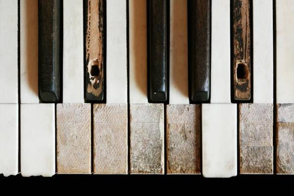 Keyboard Photograph - Old Piano by Jim Hughes