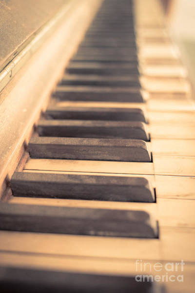 Photograph - Old Piano Keys by Edward Fielding