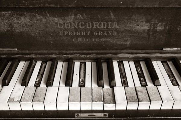 Damaged Photograph - Old Piano Keys by Jim Hughes