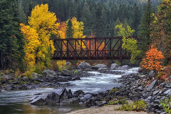 Photograph - Old Pipeline Bridge by Mark Kiver
