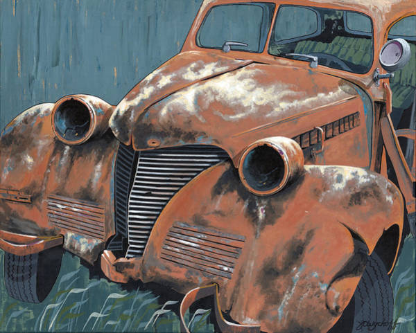 Wall Art - Painting - Old Plymouth by John Wyckoff