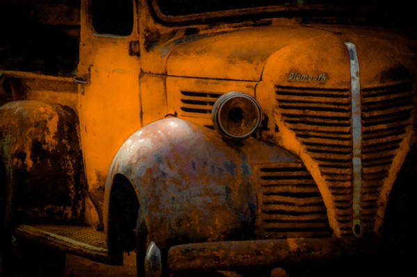 Old Truck Digital Art - Old Plymouth Yellow by Ernie Echols