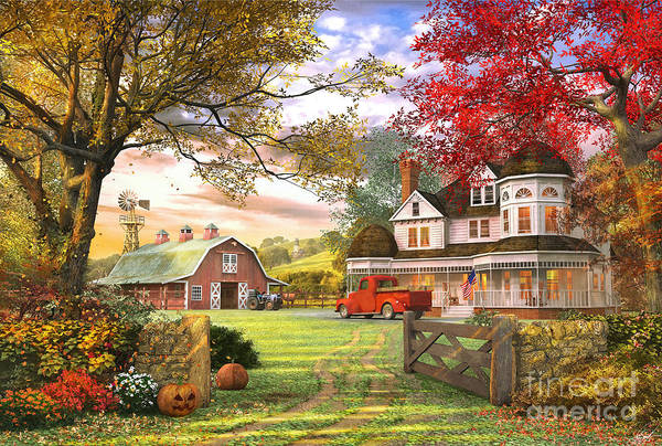 Country House Digital Art - Old Pumpkin Farm by MGL Meiklejohn Graphics Licensing