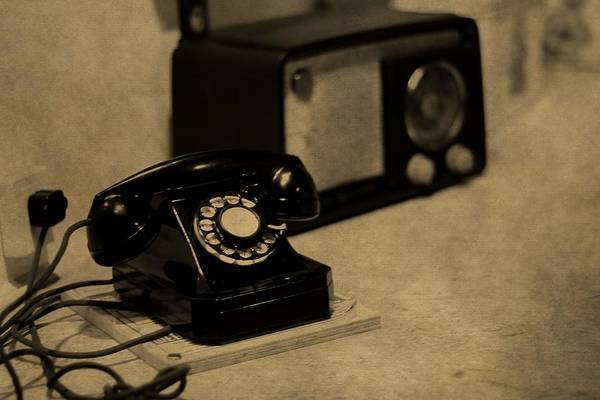 Wall Art - Photograph - Old Radio And Telephone by Dan Sproul