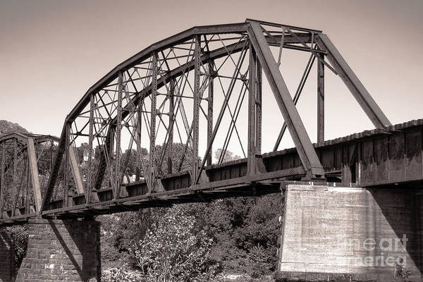 Photograph - Old Railroad Bridge by Olivier Le Queinec