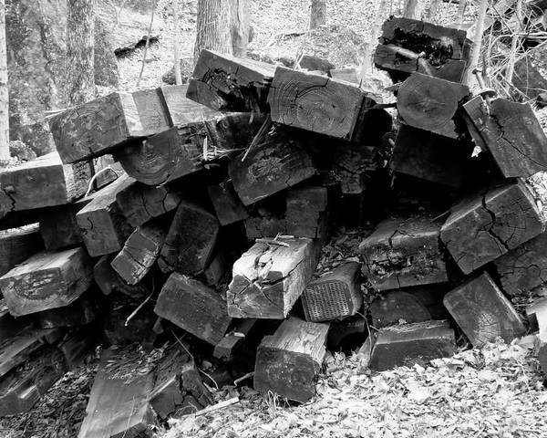 Photograph - Old Railroad Ties by Kristen Fox