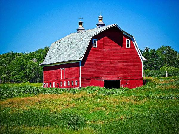 Christy Photograph - Old Red Barn by Christy Patino