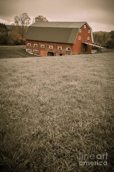 Photograph - Old Red Barn by Edward Fielding