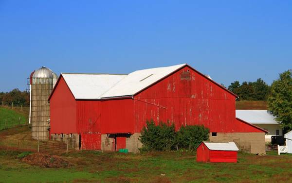Photograph - Old Red Barn In Ohio by Dan Sproul