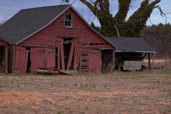 Photograph - Old Red Barn by Tom Singleton