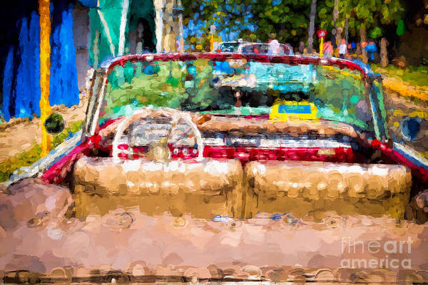 Photograph - Old Red Convertible by Les Palenik
