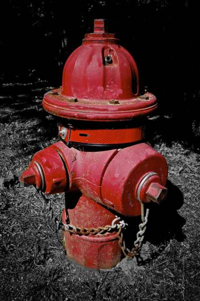 Photograph - Old Red Fireplug by Joan Reese