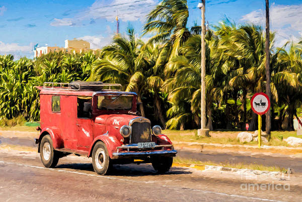 Photograph - Old Red Ford by Les Palenik