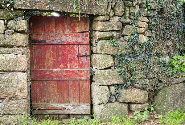 Photograph - Old Red Gate At Tregathenan. Cornwall Uk by Rob Huntley