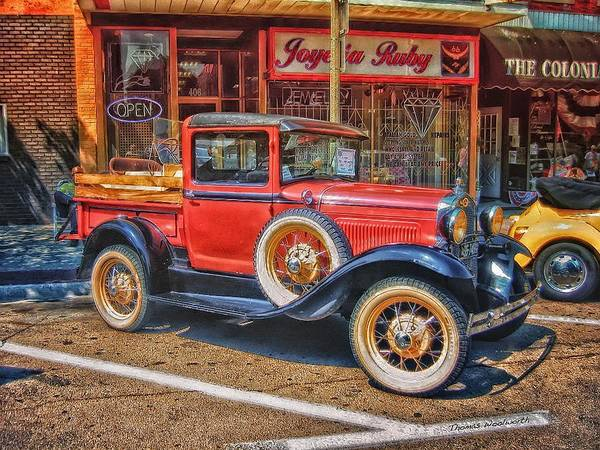 Clunker Wall Art - Photograph - Old Red Pickup Truck by Thomas Woolworth