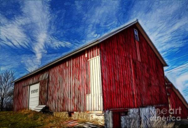 Photograph - Old Red Wooden Barn by Jim Lepard