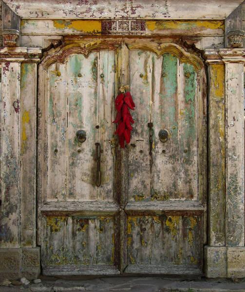 Photograph - Old Ristra Door by Kurt Van Wagner