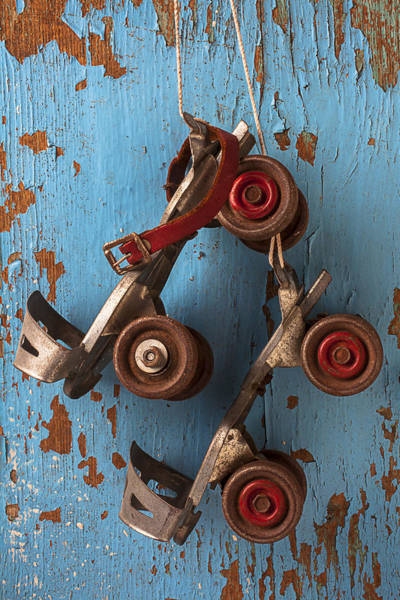 Roller Photograph - Old Roller Skates by Garry Gay