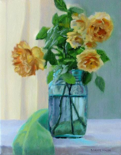 Wall Art - Painting - Old Roses by Bonnie Mason