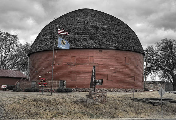 Wall Art - Photograph - Old Round Barn by Ricky Barnard