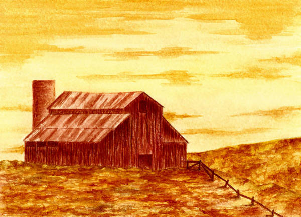 Silo Painting - Old Rusty Barn by Michael Vigliotti