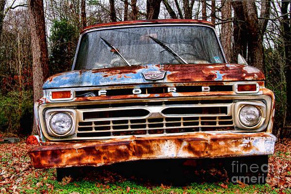 Photograph - Old Rusty Blue By Diana Sainz by Diana Raquel Sainz