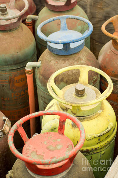 Photograph - Colorful Fire Extinguishers by Imagery by Charly