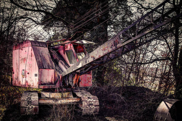 Excavator Photograph - Old Rusty Excavator by Mountain Dreams